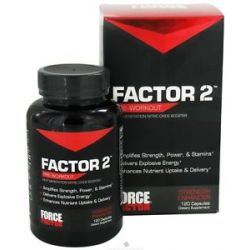 Force Factor Factor 2 Pre Workout Nitric Oxide Booster 120 Capsules