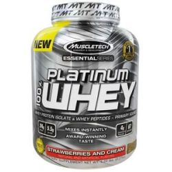 MuscleTech Products Platinum Essential Series 100 Whey Strawberries and Cream
