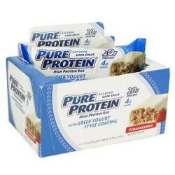 Pure Protein High Protein Bar with Greek Yogurt Style Coating Strawberry 6 X