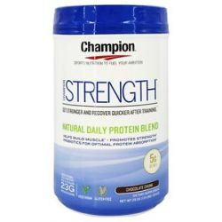 Champion Naturals Strength Natural Daily Protein Blend Chocolate Chunk 29 Oz