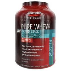 Champion Performance Pure Whey Plus Protein Stack Chocolate Brownie 4 8 Lbs