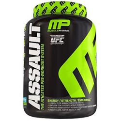 Muscle Pharm Assault Athletes Pre Workout System Blue Arctic Raspberry 1 59