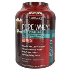 Champion Performance Pure Whey Plus Protein Stack Cocoa mochaccino 4 8 Lbs