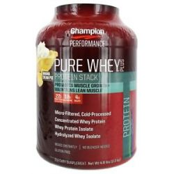 Champion Performance Pure Whey Plus Protein Stack Banana Cream Pie 4 8 Lbs