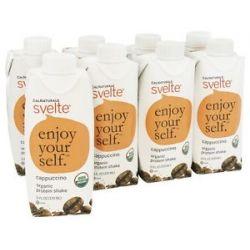 Cal Naturale Svelte Vegan Organic Protein Shake 8 x 11 oz RTD Cappuccino 8