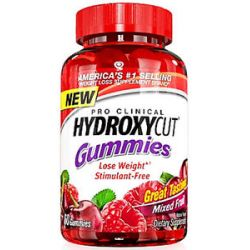 MuscleTech Products Hydroxycut Gummies Pro Clinical Mixed Fruit 60 Gummies