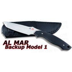 Al Mar Backup Model 1 Tanto Fixed Blade w Sheath BU1 2