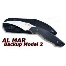 Al Mar Backup Model 2 Hawkbill Fixed w Sheath BU2 2