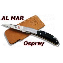Al Mar Osprey Black Micarta Folder w Pouch 1001BM New