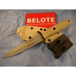 Boker Applegate Fairbairn Desert Storm Fixed Blade w Kydex Sheath 120543DES