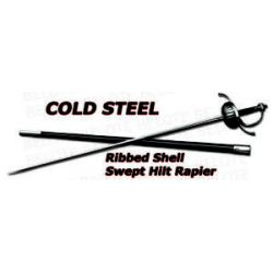 Cold Steel Ribbed Shell Swept Hilt Rapier 88CHR New