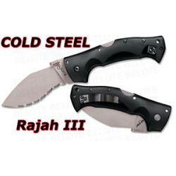 "Cold Steel Rajah III Serrated Edge Folder 3 5"" 62KGMS"