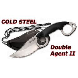 Cold Steel Double Agent II 2 Serrated w Sheath 39FNS