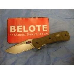 Buck Knives Vantage Force Pro Folding Knife Green G 10 Serrated w Clip 0847ODX