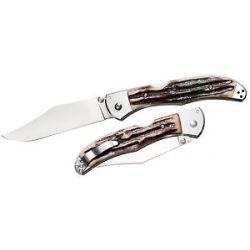 Cold Steel Lone Star Hunter Thumb Stud Folding Knife Plain Edge w Clip 54SBHT