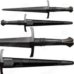 "Cold Steel Maa Italian Dagger Sword 19 5"" Leather Scabbard 1055 Carbon 88ITDM"