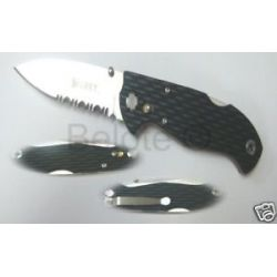 CRKT Lake 111 Combo Edge Aluminum Handle Knife 7256