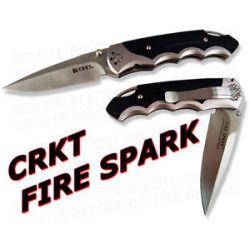CRKT Fire Spark Plain Edge Assisted Folding Knife 1050