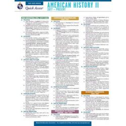 American History 2 - Rea's Quick Access Reference Chart, Quick Access by The Staff of Rea, 9780738607214.