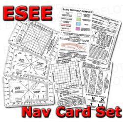 ESEE Izula Gear Navigation Card Set 5 Cards Nav Card
