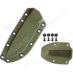 ESEE Model 3 Foliage Green Molded Sheath with Matching Boot Clip 40FGC New L K