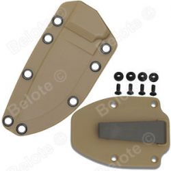 ESEE Model 3 Coyote Brown Molded Sheath with Matching Boot Clip 40CBC New L K