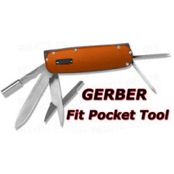 Gerber Fit Orange Pocket Tool w LED Light 30 000376