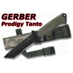 Gerber Prodigy Tanto Serrated w Camo Sheath 31 000558