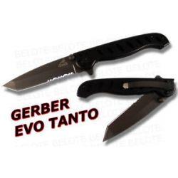 Gerber EVO Mid Size Tanto Folder Serrated 30 000202 Ger 31 000486 New