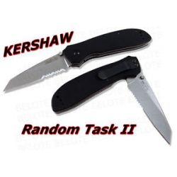 Kershaw Random Task II G 10 Folder Serrated 1515ST New