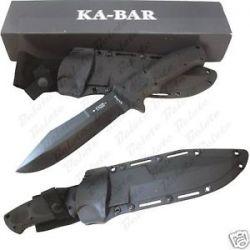 Ka Bar Knives Bull Dozier Fixed Blade w Kabar Sheath 1275