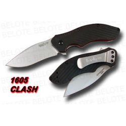 Kershaw Clash Speedsafe Folder Plain Edge w Clip 1605