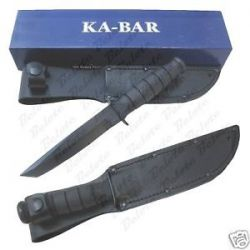 Ka Bar Knives Short Kabar Black Tanto Plain Edge 1254