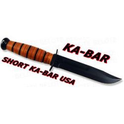 Ka Bar Knives Short Kabar USA Fixed Bld w Sheath 1251