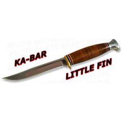 Ka Bar Kabar Knives Little Fin Fixed Blade w Sheath 1226 New