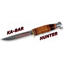 Ka Bar Kabar Knives Hunter Fixed Blade w Leather Sheath 1232