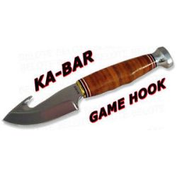 Ka Bar Kabar Knives Game Hook Fixed Blade w Sheath 1234 New