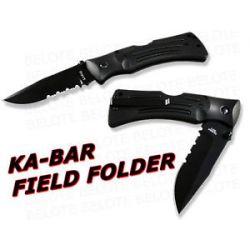 Ka-Bar Knives KaBar MULE Folder Serrated Edge w/ Sheath 3051