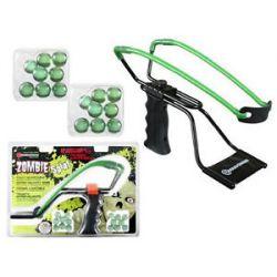 Marksman Zombie Adjustable Slingshot Kit High Velocity Band 16 Marbles 3061Z