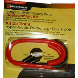 "Marksman Slingshot Hyper Velocity Replacement Tapered Band Kit 1 4"" Yoke 3355"