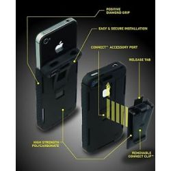 Nite Ize Connect Case Soild Black iPhone 4 4S CNT IP4 01SC