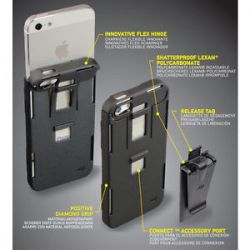 Nite Ize iPhone 5 Connect Case Translucent Blue Shatterproof IP5 03TC