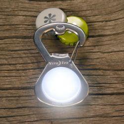 Nite Ize Getlit s Biner Bottle Opener Light Stainless Steel SBL 03 11