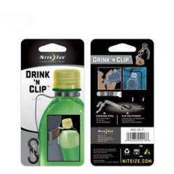 Nite Ize Drink N' Clip Hands Free Beverage Holder with s Biner Clip NDC 03 11