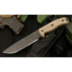 "Ontario Knife Randall Rat 7 Serrated 12"" 1095 STL 8605"