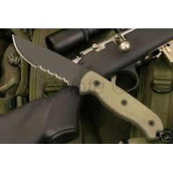 "Ontario Knife Randall Tak 1 Serrated 10"" 1095 STL 8603"