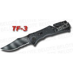 S O G SOG Tigerstripe Trident Folder Serrated TF 3 New