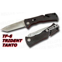 S O G SOG Trident Folder Tanto Plain Edge TF 6 New
