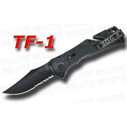 S O G SOG Black TINI Trident Folder Serrated TF 1 New
