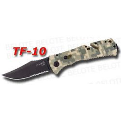 S O G SOG Digi Camo Blk Trident Folder Serrated TF 10